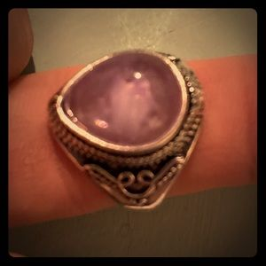 Vintage antique silver and amethyst.  NWOT
